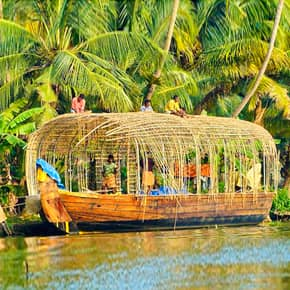 Houseboat building in Alleppey